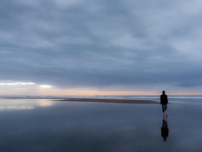 Self portrait - Karekare Beach