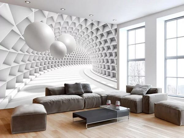 Living Room 3d Wallpaper Modern Interior Design 2020