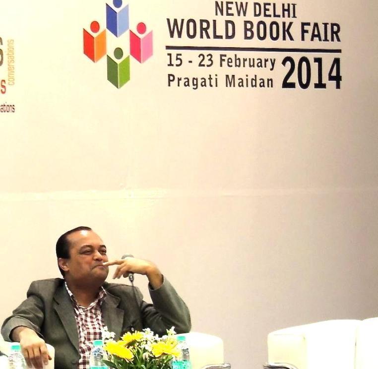 Joygopal Podder in the Authors Corner at the New Delhi World Book Fair 2014