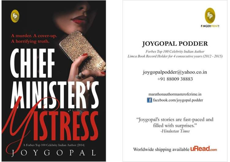 Front Cover of the book Chief Minister's Mistress and Authors Visiting Card for Joygopal Podder