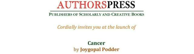 Authors Press Book Launch Cancer