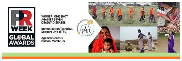 TPublic Health Foundation of India (PHFI) Best Campaign Award @ Global Awards 2017 in London on May 11