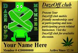 Daze-Off Discount Club. Join Today