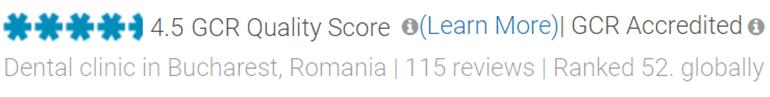 Clinique de Roumanie évaluée par Global Clinic Rating