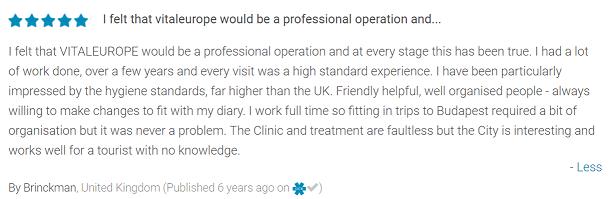 Témoignages de patients sur Clinique de Hongrie par Global Clinic Rating 5