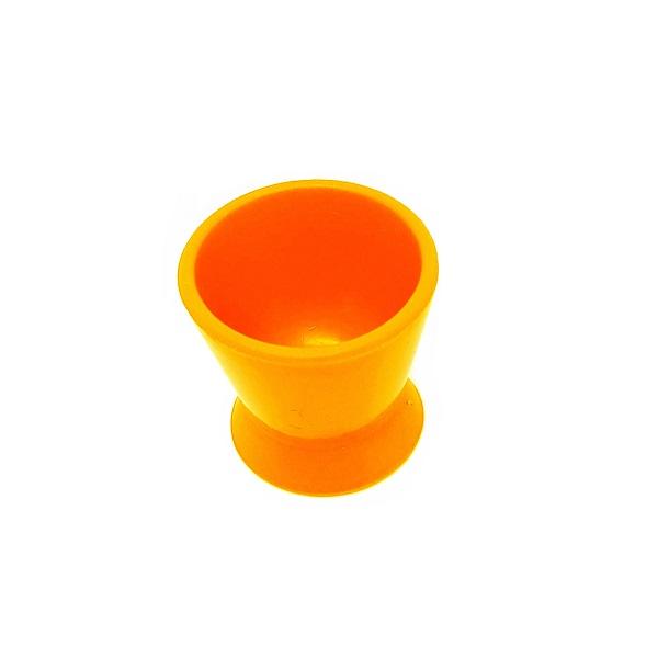 frasco dappen de silicone laranja pequeno