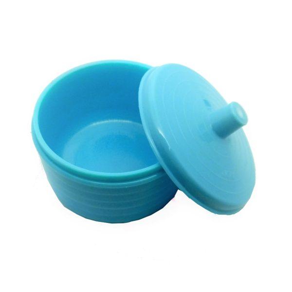 frasco plastico para manipular acrilico com tampa