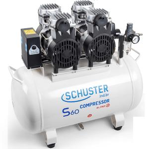 Compressor Odontológico Silencioso S60 127v Geração II - Schuster (220V) Cód: 17000