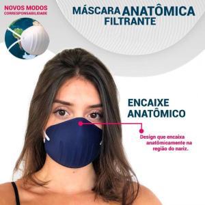 Máscara De Proteção Respiratória Lavável Branca
