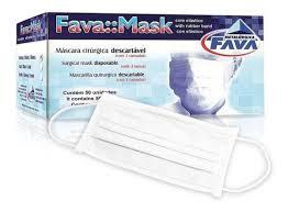 Máscara C/Elástico Branca c/ 50- Fava