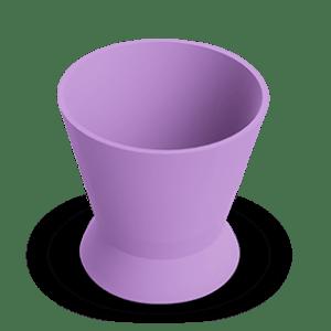 Pote Dappen Silicone Pequeno Lilás - Indusbello