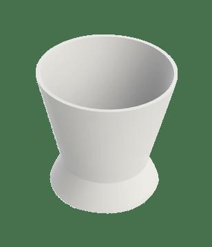 Pote Dappen Silicone Transparente- Indusbello