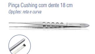 Pinça Cushing com Dente Reta 18 cm -Harte