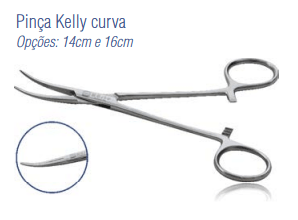 Pinça Kelly Curva 14cm -Harte