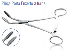 Pinça Porta Enxerto 3 furos -Harte