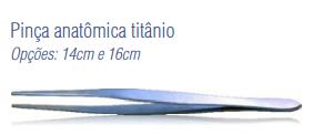 Pinça Anatômica Titânio 14cm -Harte