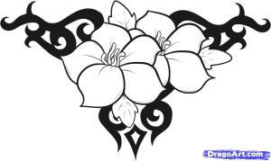 cool draw easy flowers designs drawings batman newdesignfile via