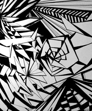 abstract drawing geometric drawings designs draw deviantart line cool easy patterns traditional perspective newdesignfile via