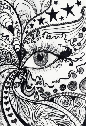 abstract drawings drawing ink designs draw pen sketches awesome cool easy eye a4 bedroom pages simple olim camilla patterns line