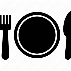 icon plate buffet dinner food eat setting fork meal knife restaurant silverware icons place cafe transparent clip balboa rocky healthy