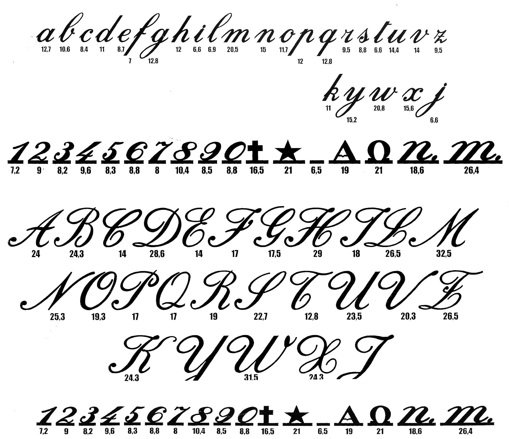 13 Best Calligraphy Fonts Alphabet Images Free