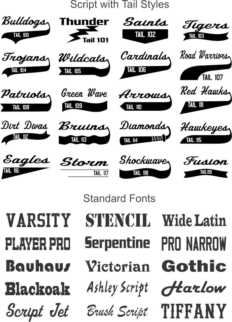 Free Baseball Tail Fonts