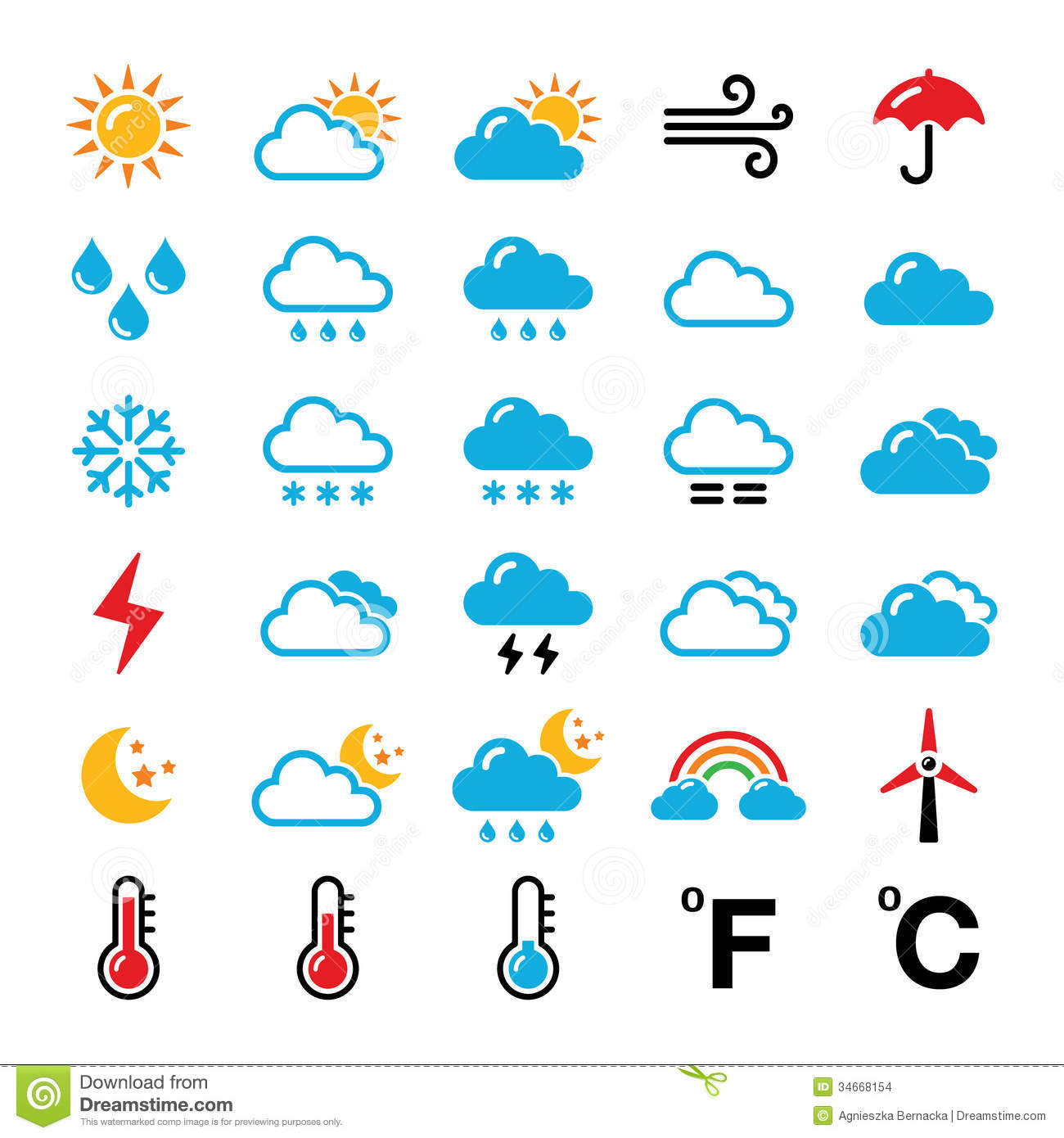 Similiar Weather Report Symbols Keywords