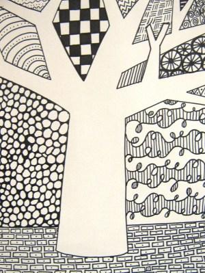 patterns easy zentangle pattern draw simple grundschule drawing kunstunterricht zen drawings using unique crazy muster doodle zeichnen tiere tangles pastels