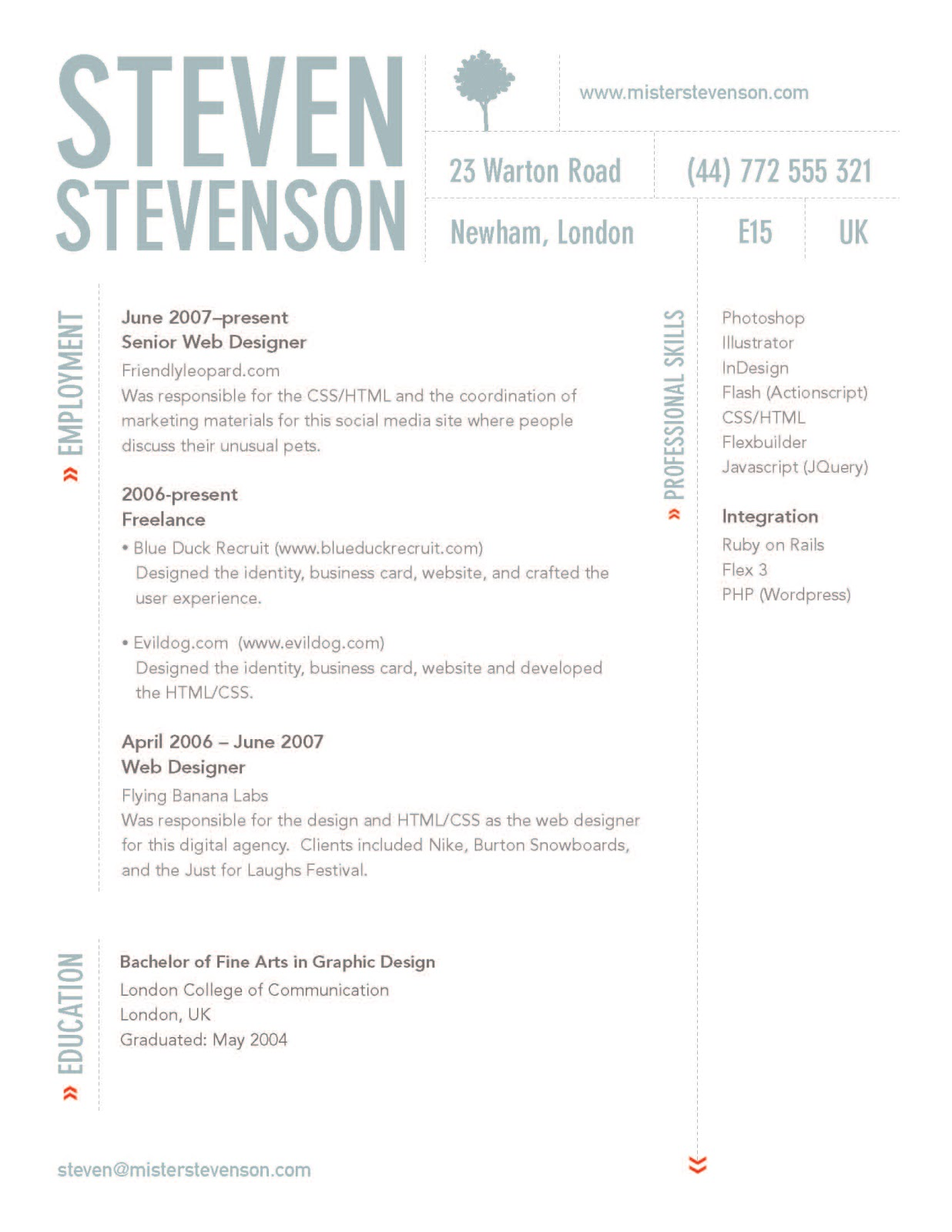 Two Page Resume Header 17 Resume Header Designs Images Professional Resume