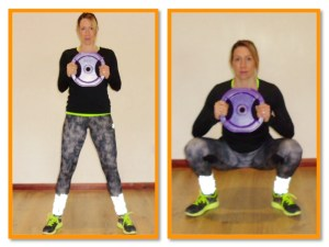 female deep squats