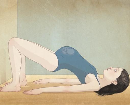 pregnant mother in bridge position