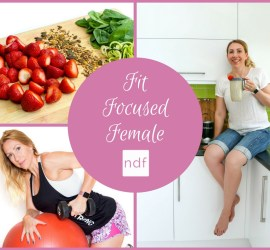 female holding a smoothie