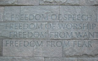 FDR Memorial Wall - Photographer Unknown