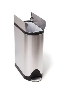 stainless steel dog proof trash can
