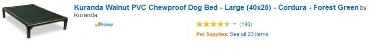Kuranda Walnut PVC Chewproof Dog Bed