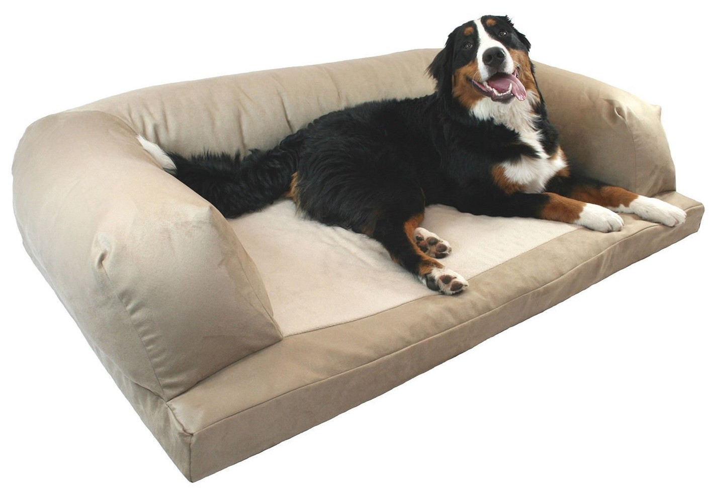 sofa dog bed skymall black bonded leather reclining orthopedic foam couch new owners