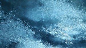 Crystalline Clear Blue Multidimensional