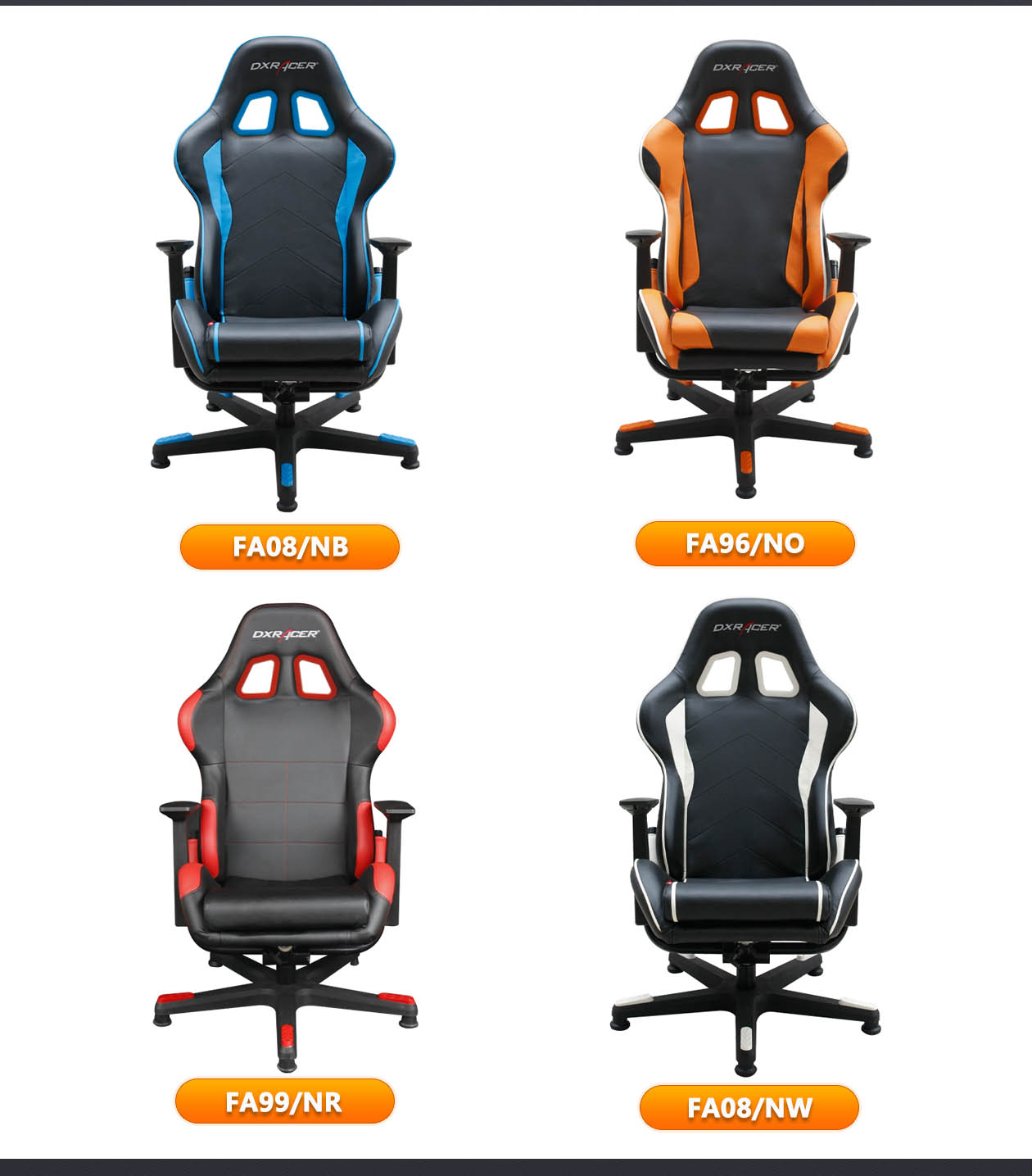 Dxr Racer Chair Dxracer Video Gaming Chair Fa08nw Racing Seats Playroom