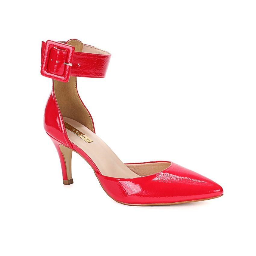 4565317369 Scarpin Vermelho Salto médio New Elegance - New Elegance