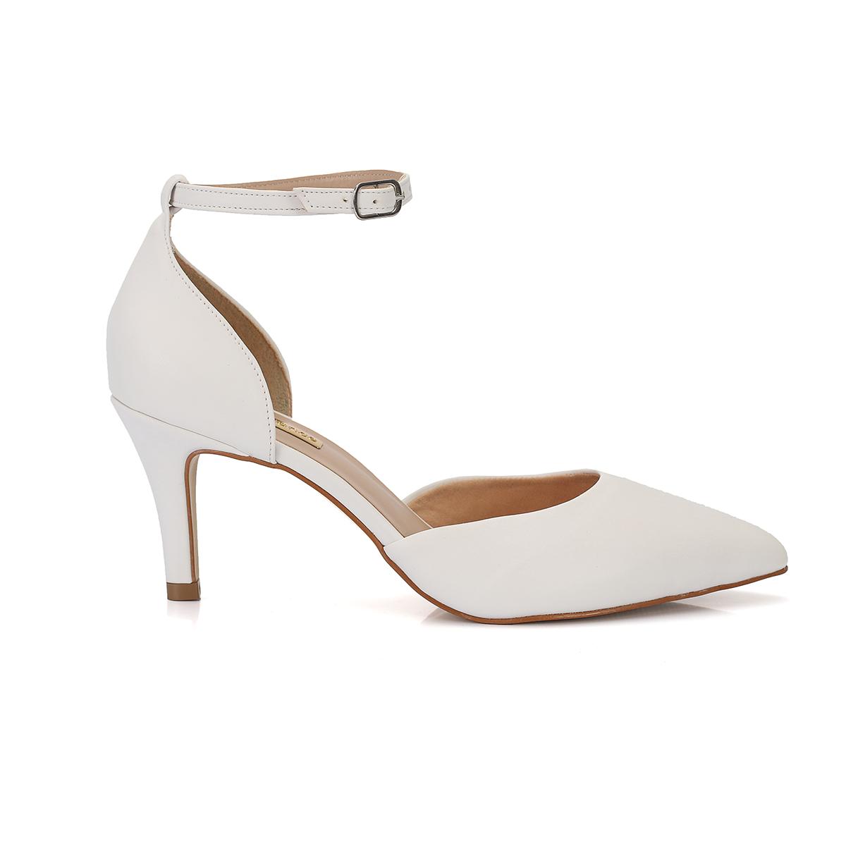 aefea745fb Scarpin Branco Salto médio New Elegance - New Elegance