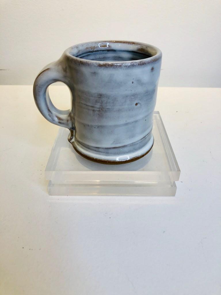 humble pottery, white glazed mug