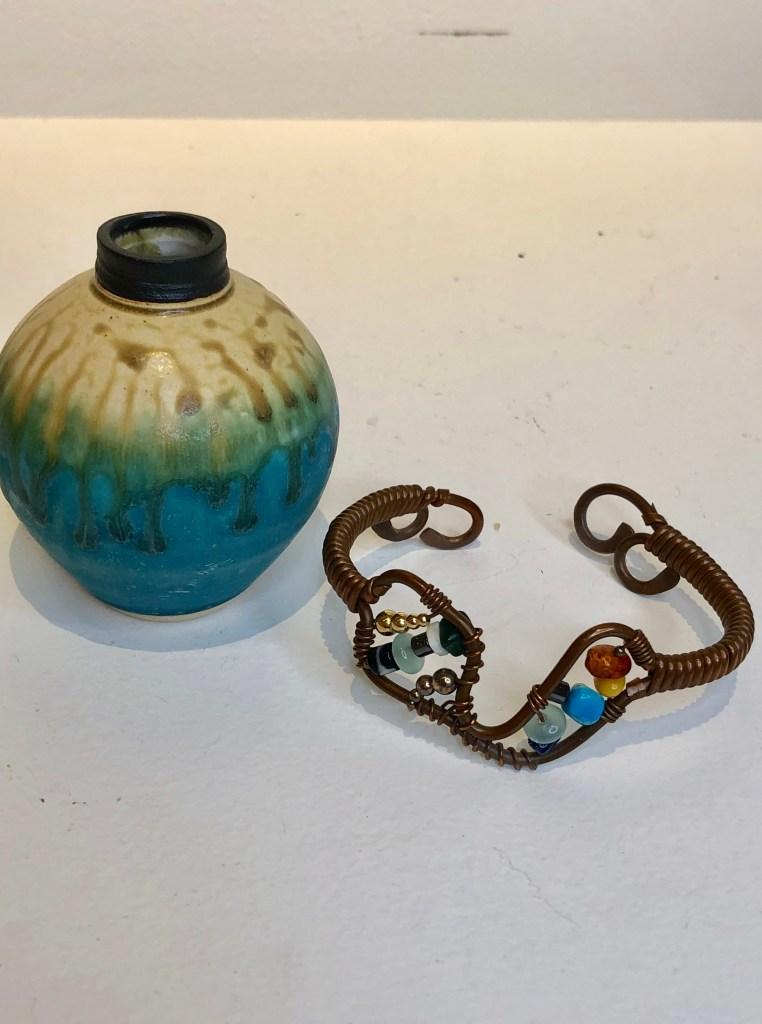 Copper Wrap-Wired Bracelet