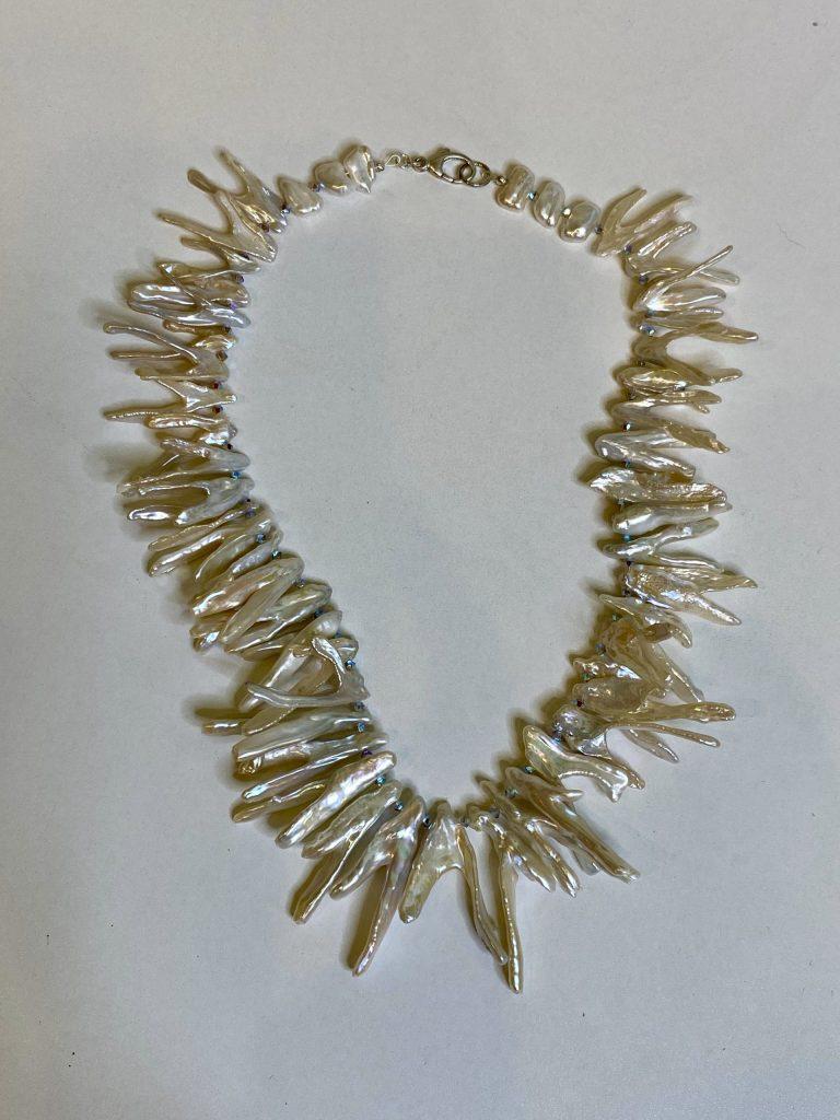 wishbone and keshi pearls