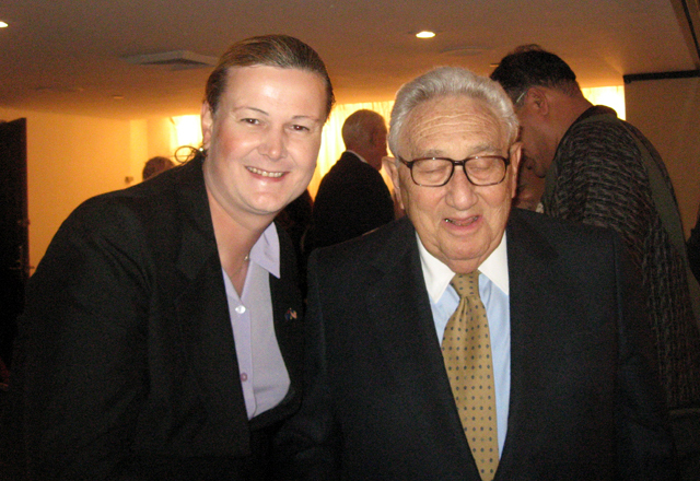 Henry Kissinger & myself at the National Press Club in Washington DC. TO think this guy was responsible for changing the course of world history, it was really cool to be able to say G'day. I like how his eyes are closed makes for a more interesting photo.