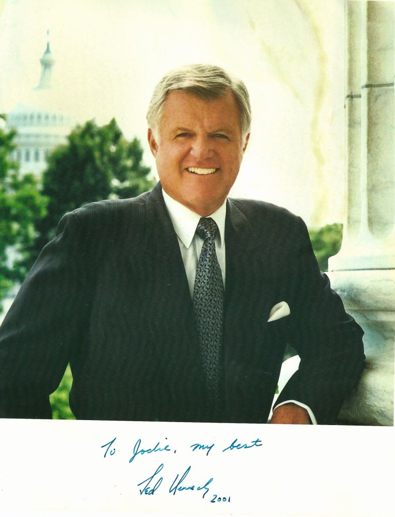A signed photo I received from the late Sen. Ted Kennedy. Whilst I  didn't agree with him politically, I thought he was decent enough to find the time to respond to a  letter I wrote him in the late 1990's.