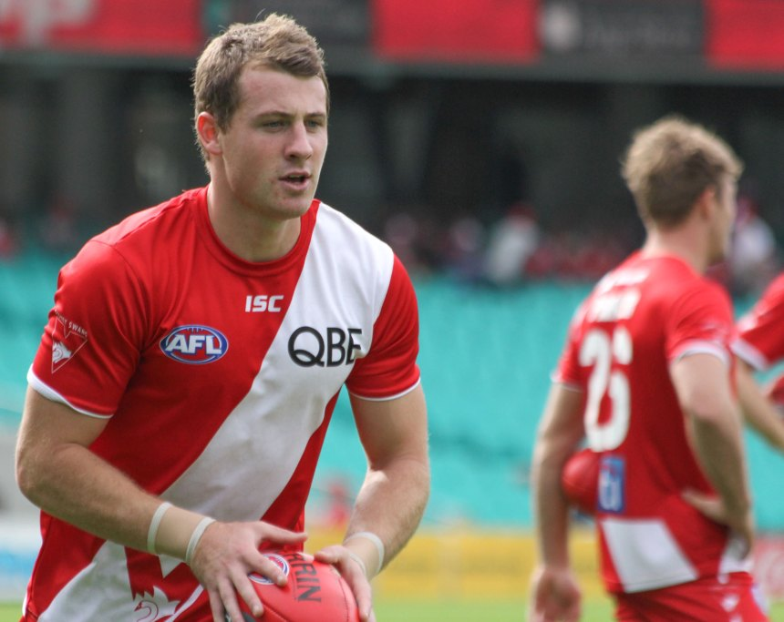 Harry Cunningham is a late inclusion into the Sydney team. He's covering for Sam Reid who has a calf strain
