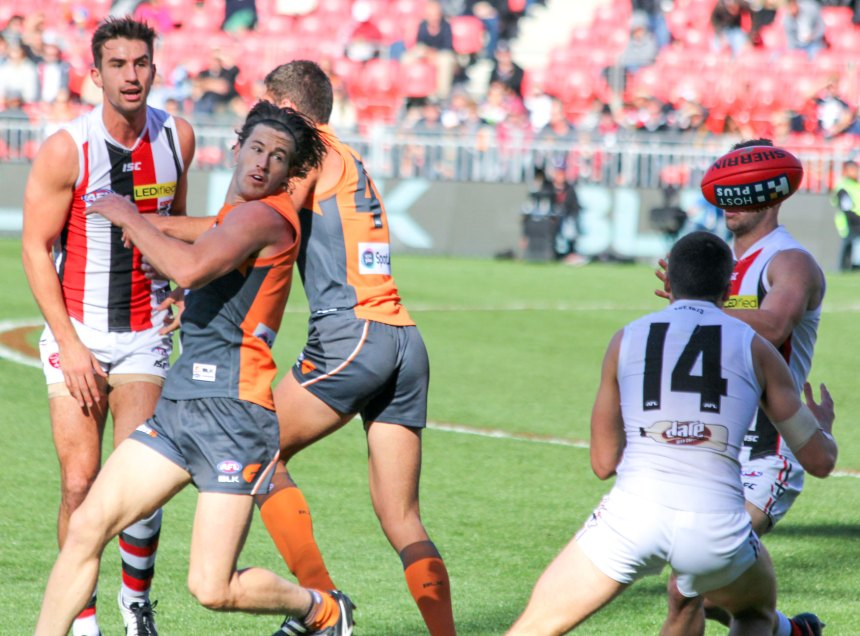Callan Ward had a superb game for the GWS Giants during the win over St-Kilda