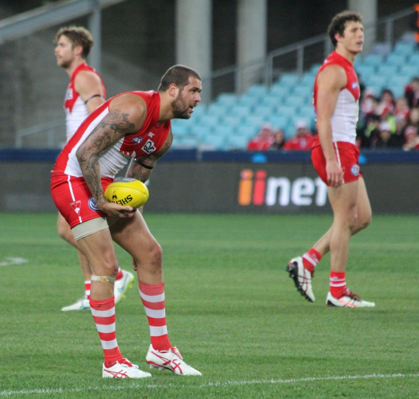 Buddy Franklin sparked a 2nd quarter revival for the Swans. He booted his 700th career goal during the game.