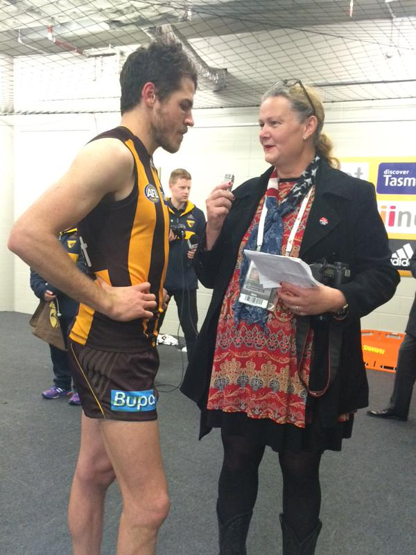 Isaac Smith talks with Jodie Newell about his 100th game with Hawthorn