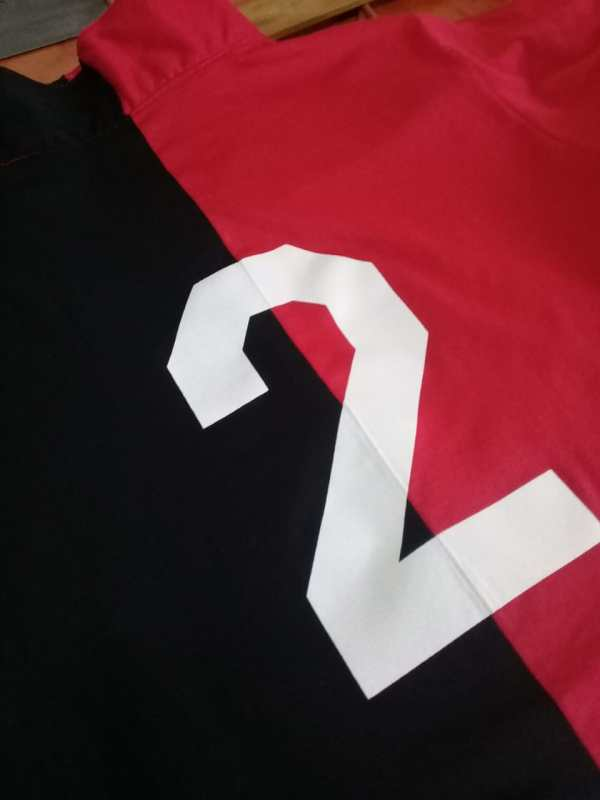 Back of Newell's Shirt 1975 with Number 2 of Marcelo Bielsa